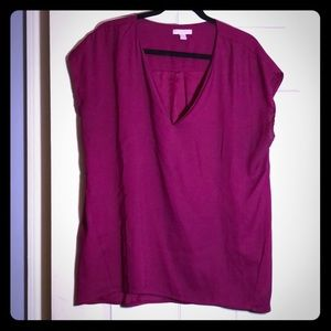 Pink/Fuschia Capped Sleeve Blouse